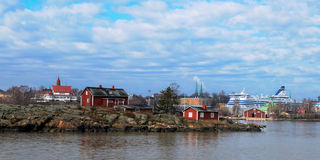 Helsinki harbour coastline Royalty Free Stock Images