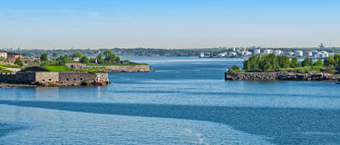 Helsinki harbour coastline Royalty Free Stock Photos