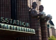 helsinki järnvägstation Royaltyfri Fotografi