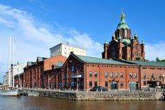 Helsinki, Kade Kanavaranta royalty-vrije stock afbeelding