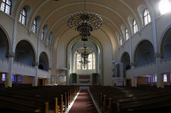 Helsinki Kallio Church (Kallion Kirkko) interior Royalty Free Stock Image