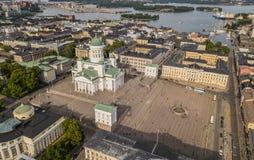 Helsinki katedra i senata kwadrat Obrazy Royalty Free