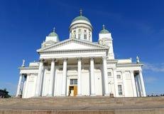 Helsinki katedra, Luterański kościół i punktu zwrotnego budynek w Senackim kwadracie Helsinki, Obraz Stock