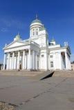 Helsinki katedra, Luterański kościół i punktu zwrotnego budynek w Senackim kwadracie Helsinki, Zdjęcia Royalty Free