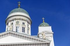 Helsinki katedra, Luterański kościół i punktu zwrotnego budynek w Senackim kwadracie Helsinki, Zdjęcia Stock