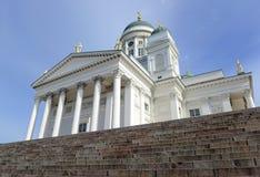 Helsinki katedra, Luterański kościół i punktu zwrotnego budynek w Senackim kwadracie Helsinki, Fotografia Stock