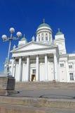 Helsinki katedra, Luterański kościół i punktu zwrotnego budynek w Senackim kwadracie Helsinki, Zdjęcie Royalty Free