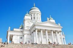 Helsinki katedra, Sławny landark w Finlandia Obrazy Stock