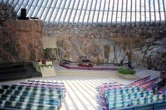 helsinki kościelny temppeliaukio Fotografia Royalty Free