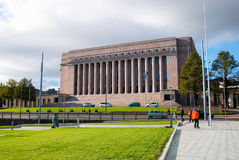Helsinki. La Finlande. Le Parlement images stock