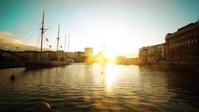 Helsinki landscape on sunset stock video