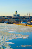 Helsinki landscape with Tuomiokirkko Royalty Free Stock Photos