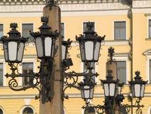 Helsinki lantern. Old hammered city lanterns in center of Helsinki royalty free stock photo