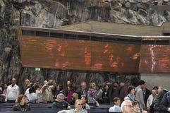 Helsinki, le 23 août 2014 - église de granit de Helsinki en Finlande Photographie stock libre de droits