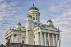 Helsinki lutheran cathedral. Tuomiokirkko. City center. Finland Royalty Free Stock Photography