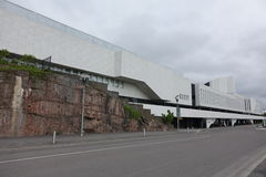 HELSINKI - 28 MAJ: Finlandia Hall w Helsinki, Finlandia na 28 2016 Maju Fotografia Royalty Free
