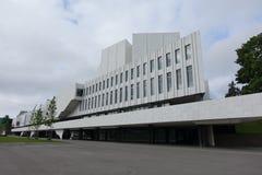 HELSINKI - 28 MAJ: Finlandia Hall w Helsinki, Finlandia na 28 2016 Maju Zdjęcie Royalty Free