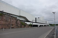 HELSINKI - 28 MAJ: Finlandia Hall w Helsinki, Finlandia na 28 2016 Maju Obraz Stock