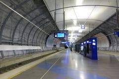 HELSINKI - 28 MAY: Helsinki Vantaa Airport trains station in Helsinki, Finland on 28 May 2016 Stock Images