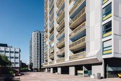 Helsinki, Merihaka. Seashore residential area in central Helsinki, Finland consisting of large high-rise concrete housing blocksSeashore residential area in royalty free stock photo