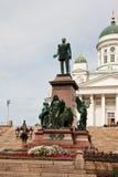 helsinki monument Royaltyfri Foto