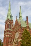 Helsinki neogothic katedra Johanneksenkirkko Centrum miasta Fi Zdjęcia Stock
