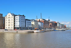 Helsinki. North Quay in spring Stock Photo
