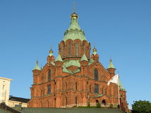 Helsinki Orthodox cathedral Stock Photo