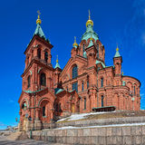 Helsinki Orthodox Uspensky Cathedral Stock Photos