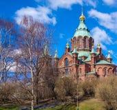 Helsinki, orthodoxes catherdral Stockfotos