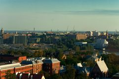 Helsinki panorama. A panoramic view of downtown helsinki city Stock Image