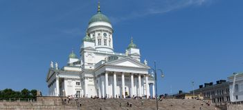 Helsinki panorama. Helsinki Lutheran Cathedral on Senate Square is a landmark of the city royalty free stock photography