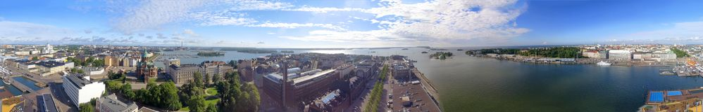 Helsinki panoramic aerial view, Finland.  royalty free stock image
