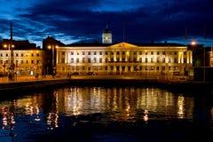 Helsinki por noche Fotografía de archivo