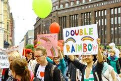Helsinki Pride gay parade Royalty Free Stock Image