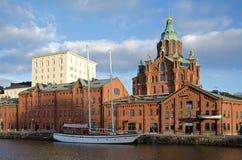 Helsinki przy zmierzchem. Fotografia Royalty Free