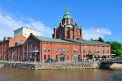 Helsinki, Quay Kanavaranta Royalty Free Stock Photo