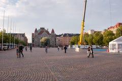 Helsinki Railway Square Royalty Free Stock Photos