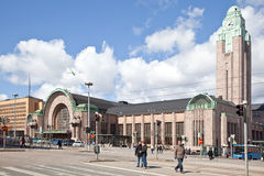 Helsinki. Railway station Royalty Free Stock Photography