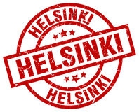 Helsinki red round stamp Stock Images