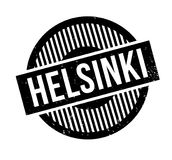 Helsinki rubber stamp. Grunge design with dust scratches. Effects can be easily removed for a clean, crisp look. Color is easily changed Royalty Free Stock Photography