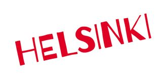Helsinki rubber stamp. Grunge design with dust scratches. Effects can be easily removed for a clean, crisp look. Color is easily changed Stock Image
