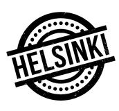 Helsinki rubber stamp. Grunge design with dust scratches. Effects can be easily removed for a clean, crisp look. Color is easily changed Royalty Free Stock Images