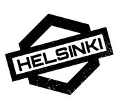 Helsinki rubber stamp. Grunge design with dust scratches. Effects can be easily removed for a clean, crisp look. Color is easily changed Royalty Free Stock Photo