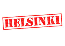 HELSINKI. Rubber Stamp over a white background Stock Images