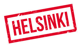 Helsinki rubber stamp. On white. Print, impress, overprint. Symbol of finnish city, capital of Finland. Travel and tourism tag, travel destination Stock Photography