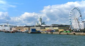 Helsinki from sea Stock Photos