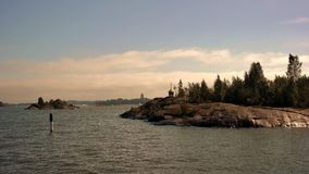 Helsinki sea. Sea with islands between Helsinki harbour and Soumenlinna fortress Royalty Free Stock Photography