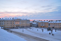 Helsinki. Senate Square at dawn Royalty Free Stock Images