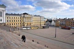 Helsinki Senate Square Stock Photo